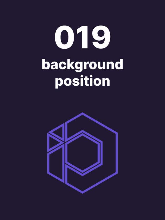 019 – Connais-tu la propriété background-position ?