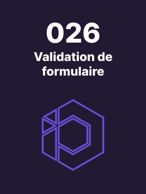 026 – Styliser conditionnellement le champ d'un formulaire
